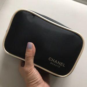 Chanel beaute Black Makeup bag